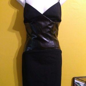 Black goth witch vinyl corset midi dress size 8